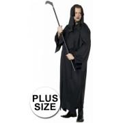 Halloween Zwarte dood kostuum grote maat 60 (4xl)