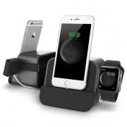 Verus i-Depot Plus Cradle - универсална док станция за iPhone, iPad, Apple Watch и мобилни устройства с microUSB (тъмносива)