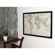 Home Magnetics Magnetic Pin Travel Map- World with 20 Bonus Pins - Standard Color