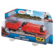 LOCOMOTIVA MOTORIZATA CU VAGON THOMAS & FRIENDS - JAMES - MATTEL (BMK87-BML08)