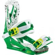 Nitro Snowboards - Attacchi snowboard uomo Pusher BDG '17, Uomo, Snowboardbindung PUSHER BDG '17, Lucky Green, L