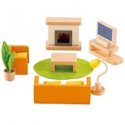 Hape - Media Room Wooden Doll House Furniture