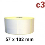 Rotolo etichette in carta termica, 57 x 102 mm, 700 etichette, Zebra TLP 2824 LP2824 Plus, Citizen, Intermec, TEC