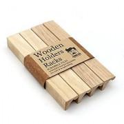 Wooden Rack Holder Scrabble Tiles / Mah Jong Set of 4