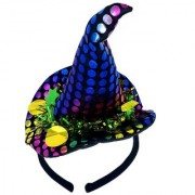 Funcart Sequin Multicolor Polka Dot Black Hair band