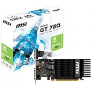 MSI N720-1GD3HLP Scheda Video, Nero