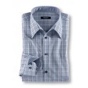 Walbusch Extraglatt-Hemd Semidress Blau 38