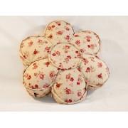 Dekorativni jastuk Cvet Krem crveni Ruže Ø39X6cm