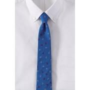 ランズエンド LANDS' END メンズ・プリントコットン・トスド・アンカー・タイ/ネクタイ(ダークベイブルーアンカー)
