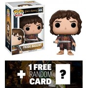 Frodo Baggins: Funko POP! Movies x Lord of the Rings Vinyl Figure + 1 FREE Official Hobbit Trading Card Bundle (13551)