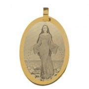 Pingente de Ouro com foto gravada / Fotogravação 30mm x 21mm