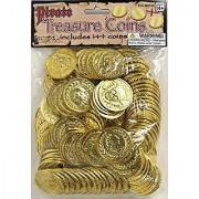 Pirate Gold Treasure Coins - 144 pcs