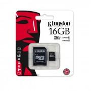 Cartão De Memória Kingston 16GB Micro SDHC Class 10 UHS-I + Adaptador SD - SDC10G2/16GB
