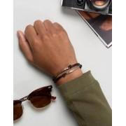 Icon Brand Coin Wax Woven Bracelet In Black - Black