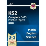 KS2 Complete SATS Practice Papers: Science, Maths & English (Updated for the 2017 Tests) - Pack 1 by CGP Books