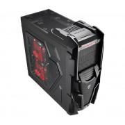 Boîtier PC Mechatron Black Window Edition noir, kit de fentre, détail 3x 5,25 pouces externe, 4x interne de 3,5 pouces, 3x 2,5 pouces interne ATX ATX 7