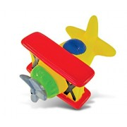Puzzled Bi Plane Rubber Squirter Bath Buddy Bath Toy - Air Planes Aircrafts Collection - 3 INCH - Affordable High Quality Gift For Your Little One - Item #2788