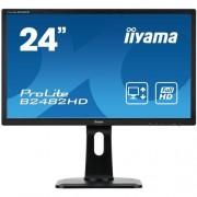 Monitor iiyama B2482HD-B1, 24'', LCD, 5ms, 250cd/m2, 1000:1 (12M:1 ACR), FullHD, VGA, DVI, pivot