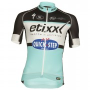 Etixx Quick-Step Replica Pro Race Short Sleeve Jersey - Black/Blue - L