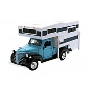 MotorMax - 75330bl - Plymouth - Pickup - Camper Set - 1/24 Scala