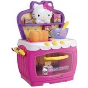 Hello Kitty keukentje met electronische oven met accessoires