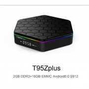 T95ZPlus 4K Android TV Box Mediaplayer, OctaCore Amlogic S912, Mali T820, 2GB DDR3, 16GB eMMC ROM