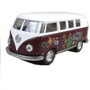 5 Classic 1962 Volkswagen Van with Decal 1:32 Scale (Color: Maroon)