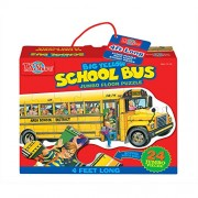 T.S. Shure Big Yellow School Bus Shaped Floor Puzzle