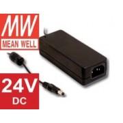 Adaptér 24V 60W, Mean Well interiérový napájací zdroj