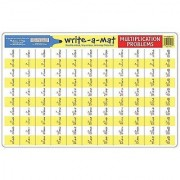 Math Problems III Write-a-Mat w/ Crayon Bundle for Ages 7+: Multiplication & Division - The Straight Edge Series