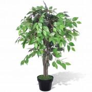 vidaXL Изкуствен фикус в саксия 90 см