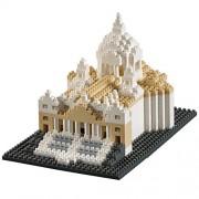 Brixies 410135 - Basilica Pietro, Puzzle 3d, Italy Edition, 627 pezzi, difficoltà 4 (molto difficile, Multicolore