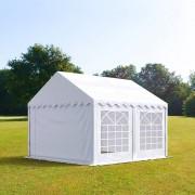 Profizelt24 Partyzelt 4x4m PVC weiß Gartenzelt, Festzelt, Pavillon
