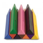 Set 10 creioane groase trunghiulare