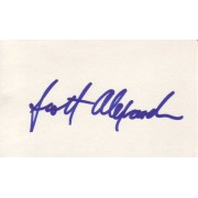 Scott Alexander Autographed 3x5 Index Card