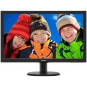 "Monitor LED Philips 23.6"" 243V5LSB, Full HD (1920 x 1080), VGA, DVI-D, 5 ms (Negru) + Bitdefender Antivirus Plus 2017, 1 PC, 1 an, Licenta noua, Scratch Card"