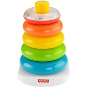 Fisher Price 3 Piece Set Rock-a-Stack and Baby's First Blocks with Bonus First 100 Words Board Book