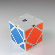 MoYu SKEWB 3x3 3 Layers Magic Cube Professional Speed Puzzle Cube Brain Teasers Game White With a Cube Bag MOYU skewb 3x3 3 capas cubo mágico Puzzle Cubo rompecabezas juego profesional de velocidad con un cubo blanco bolsa