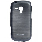 iCandy™ Soft TPU Shiny Back Cover For Samsung Galaxy Samsung Galaxy S Duos S7562 / S Duos 2 S7582 - Black