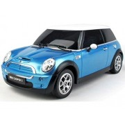 Toyhouse Officially Licensed Rastar Mini Cooper S 1:14 Scale Model Car, Blue