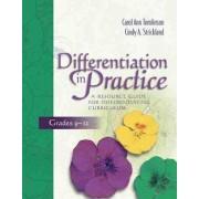 Differentiation in Practice by Dr Carol Ann Tomlinson