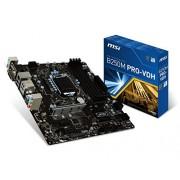 MSI B250M Pro-Vdh Scheda Madre, Formato uATX, Chipset Kabylake, Nero