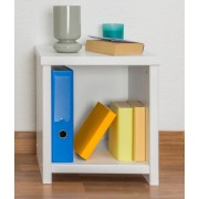 Steiner Shopping Furniture Bedside table solid pine wood, in a white paint finish Junco 128 - Dimensions 43
