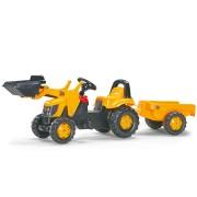 Tractor Cu Pedale Si Remorca Copii ROLLY TOYS 023837 Galben
