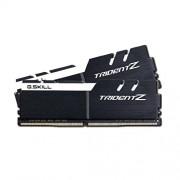 GSkill F4-3200C15D-32GTZKW Memoria RAM da 16 GB, DDR4, 3200 MHz, CL15, Kit 2 Pezzi, Nero