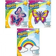 Suncatcher Kits - Butterflies Large Butterfly Rainbow with Clouds - by Makit & Bakit / Colorbok - stained glass art project for kids - Boys girls and children - Bundle of 3