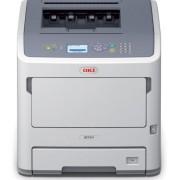 Imprimanta laser alb-negru OKI B731dnw, A4, 52 ppm, Retea, Wireless (Alb) + Jucarie Fidget Spinner OEM, plastic (Albastru)
