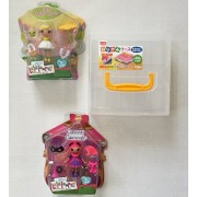 Mini Lalaloopsy Doll Set Bundle: Mini Happy Daisy Crown Doll & Mini Confetti Carnivale Doll Plus a Clear Sturdy Plastic Carry Case w/Handle. Perfect For Valentines or Easter Gift (3 Items)
