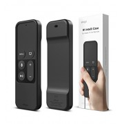 elago R1 Intelli Case [BLACK]-[HEAVY SHOCK ABSORPTION][MAGNET TECHNOLOGY][LANYARD INCLUDED] for apple TV Remote