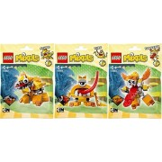 LEGO, Mixels Series 5 Bundle Set of Lixers, Spugg (41542), Turg (41543), and Tungster (41544) by LEGO